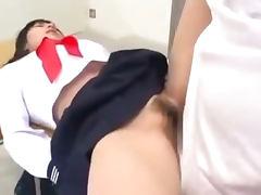 Schoolgirl Getting Her Hairy Pussy Fucked By Schoolguy Creampie In The Classroom