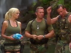 Hardcore Threesome With The Sexy Blonde Soldier Stormy Daniels porn video