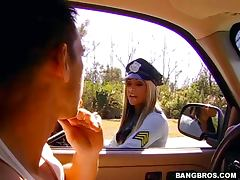 Shaved Pussy, Ass, Babe, Big Tits, Blowjob, Cop
