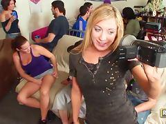Hotties Natasha Amy Katie And Brooke Enjoy A Full Party Fuck