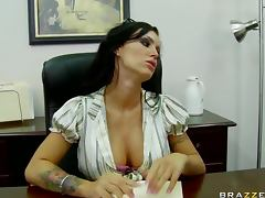 Foxy Brunette Jenna Presely Gets Fucked and Facialized At The Office