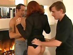 German Babe Double Penetrated By a Couple Studs