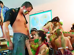Body paint and banging at party