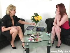 Lady Sonia and friend masturbation