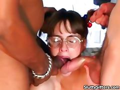 Babysitter, Babysitter, Sex, Teen, 3some, Sucking