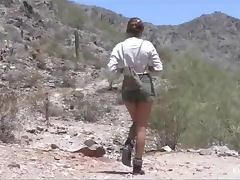 Blonde Babe in the Desert Takes a Pussy Break