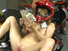 Biker, Big Tits, Biker, Bitch, Blonde, Clothed