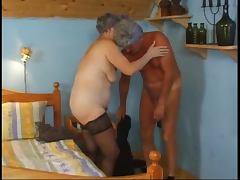 Wrinkled, Aged, Blowjob, Mature, Old, Stockings