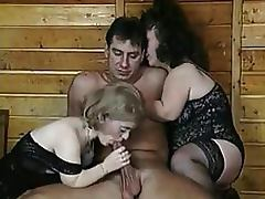 Bizarre Threesome With Two Mature Lesbian Midgets In Sexy Lingerie porn video