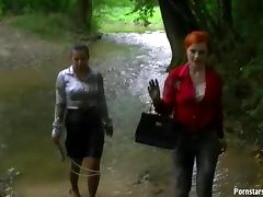 Brunette, Brunette, Catfight, Clothed, Fetish, Outdoor
