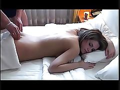Exquisite Brunette Teen Gets Massaged and Then Fucked Hardcore Style