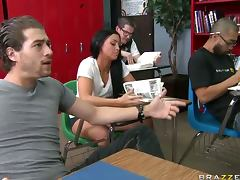 Deep Throated Teacher Lezley Zen Gets Fucked and Covered