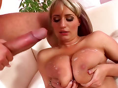Natural tits girl fuck and cumshot scene