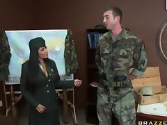 Uniform, Army, Ass, Big Tits, Facial, Horny