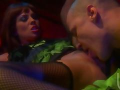 Kirsten Price Sucks On a Big Cock After Getting Cum On Her Natural Tits