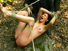 Forest, BDSM, Outdoor, Skinny, Spanking, Strip