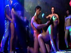 Rave night with teen fucking