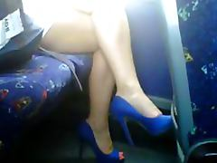 Kinky Voyeur Cam Catches a Babe With Perfect Feet In High Heels