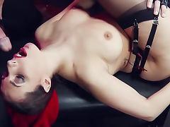 Kinky night club with hot stockings fuck slut