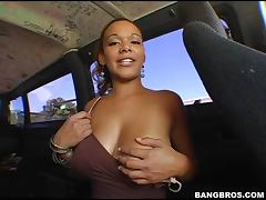 Banging van changed the driver this is hot blonde lady