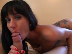 Gia Dimarco Sucks and Fucks a Big Cock Until Getting Covered In Jizz