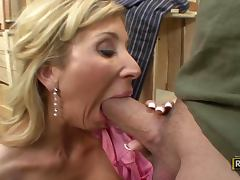 All, Big Tits, Blonde, Blowjob, Deepthroat, Doggystyle