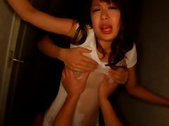 Shameless Sae Aihara fingers her pussy and gets licked