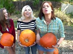 Halloween, Babe, Banging, Big Tits, Blowjob, Cumshot