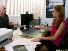 Big Dick Fucking The Brunette Stephanie Cane In The Office