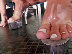 All, Blonde, Feet, Heels, Masturbation, Smoking