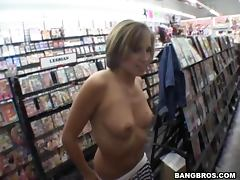 store blowjob with hot blonde horny chick