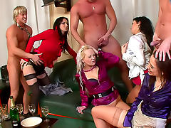 Drinking and pissing in sexy orgy