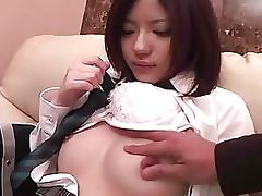 Exotic Japanese Teen Mai Misato Lets Her BF Finger Her Hairy Pussy