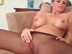 Julia Ann pantyhose jerk off instructions