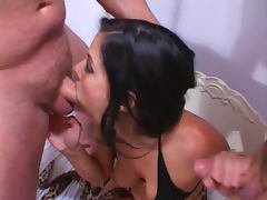 Autumn Haze gets fucked by two hardcore studs