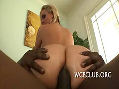 Babe gets ass cumcovered