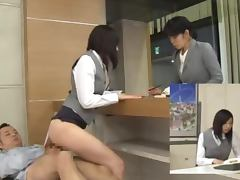 Office Girl With A Gorgeous Ass Fucked While Working