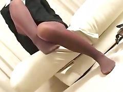 Japanese, Feet, Footjob, Japanese, Oriental, Pantyhose