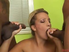Sizzling blondie Dara gets fucked by a huge black cock