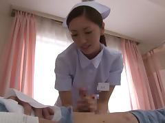 Horny Nurse Yuri Kasiwa Wakes A Patient Up With A Blowjob