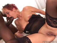 Naughty Blonde MILF Loves to Suck Big Black Dicks