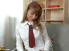 Tammi the shameless schoolgirl having wild anal sex