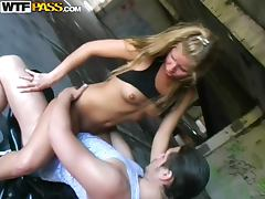 Fun blonde girl liked public fucking with the biker
