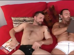 Hairy Beefy Daddies Pull Those Tits Man
