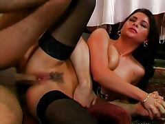 All, Brunette, Couple, Cumshot, Heels, Lick