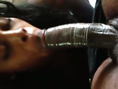 Jamaican Freak sucking on my dick porn video