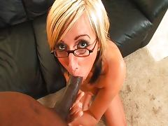 Big black lollipop for German pussy