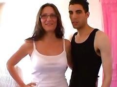 FRENCH amateur Mature ejac faciale sur les lunettes