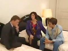 Retro French Gangbang Group sex H