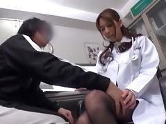 Busty Japanese doctor gets fucked in her consulting room